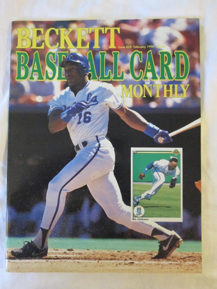 BECKETT BASEBALL CARD PRICE GUIDE #59 BO JACKSON COVER KANSAS CITY ROYALS 1990