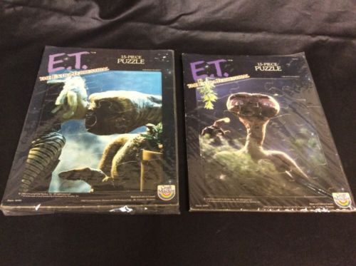 2- Vintage *E.T. The Extra Terrestrial Puzzles By Craft Master *1982