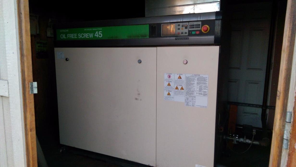 Hitachi 60HP Oil Free Compressor