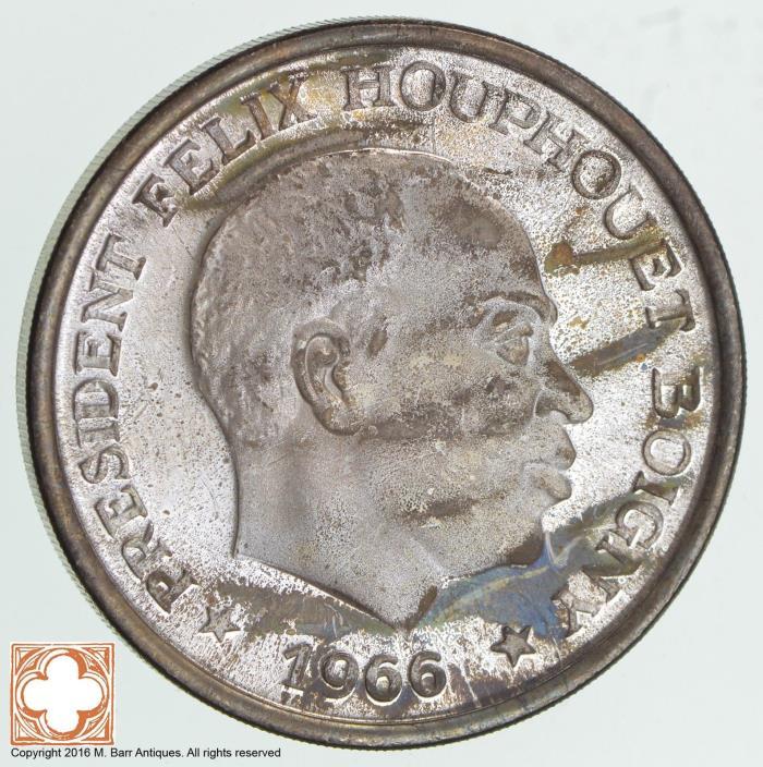1966 Ivory Coast 10 Francs *7515