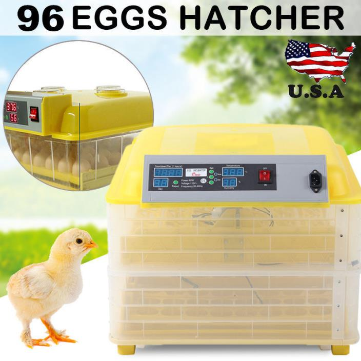 48 56 96 Egg Automatic Egg Incubator Poultry Hatcher Chicken/Goose Incubator A