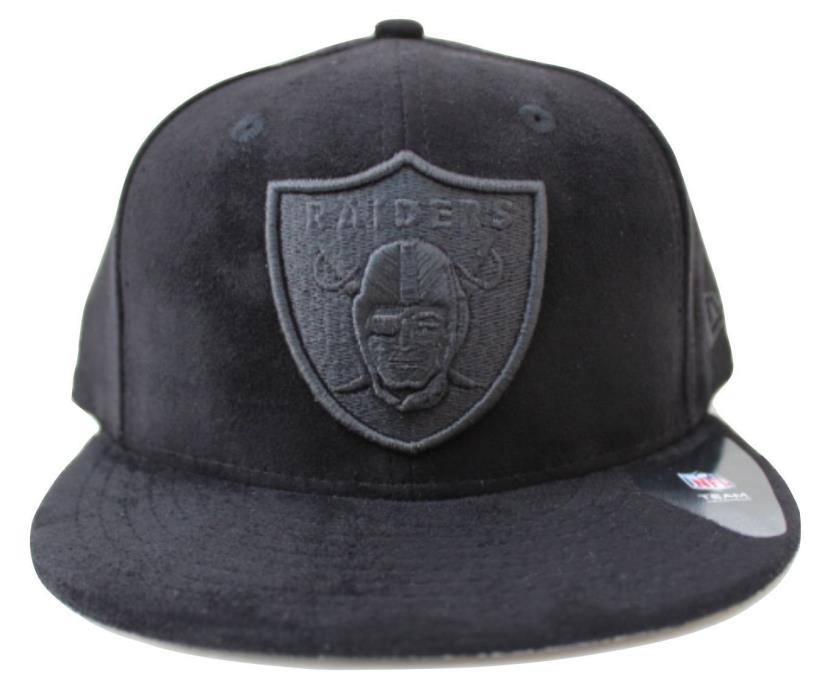 NFL Oakland Raiders New Era 59Fifty Solid  Black Suede Fitted Hat