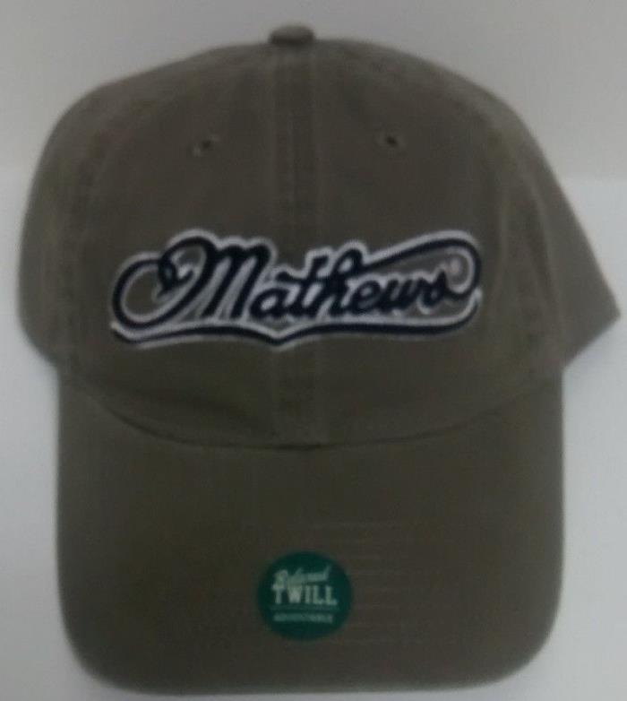 Mathews Cap Hat Olive Green White Black Halon 32 Avail Z7 Bow Archery Compound