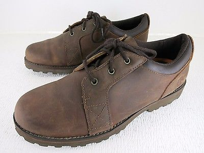 Timberland Brown Nubuck Leather Oxfords Fashion Footwear Men's Used Shoes 6 M