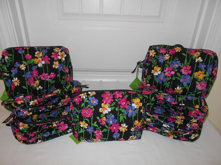 VERA BRADLEY NWT Wildflower Garden Resell Lot Total of 15 Free Shipping