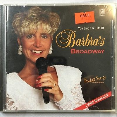 Barbra Streisand Broadway Karaoke Music CD + G PS 1144