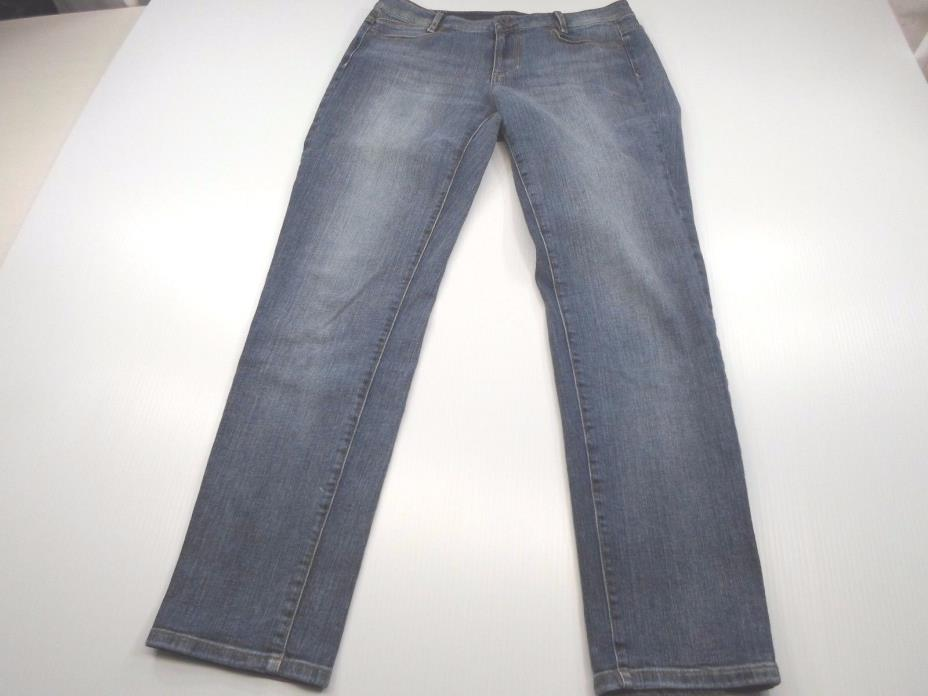 J-JILL Women's Size 6 Blue Skinny Low Rise Pockets Cotton Blend Stretch Jeans