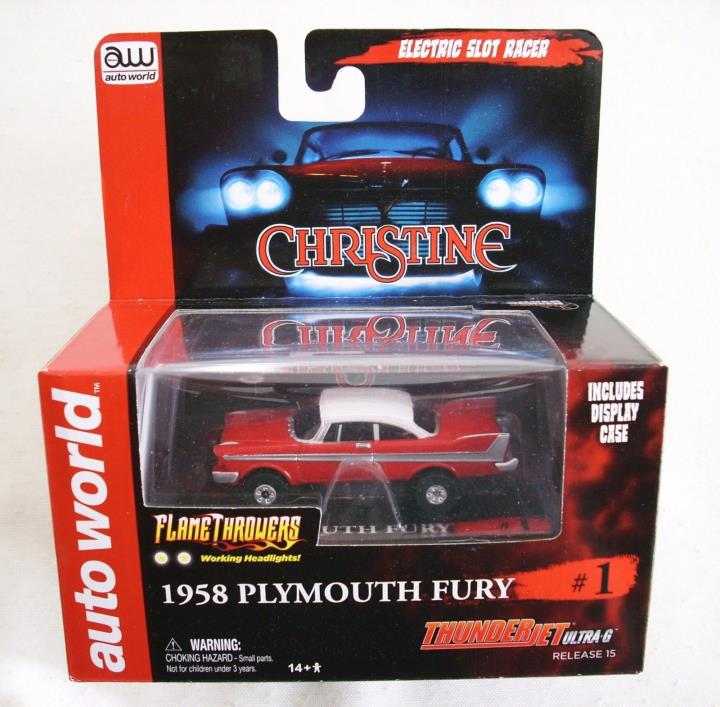 AUTO WORLD CHRISTINE, 1958 Plymouth Fury, Thunderjet Utra-G - HARD TO FIND!!