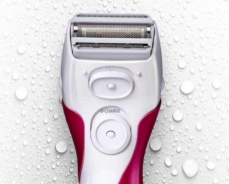 Women Electric Shaver Cordless Bikini Trimmer Wet Dry Shower Bath Foam Gel Use