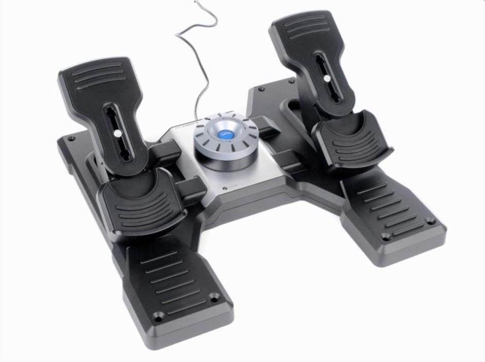 Saitek Pro Flight Rudder Flight Pedals with Toe Brakes