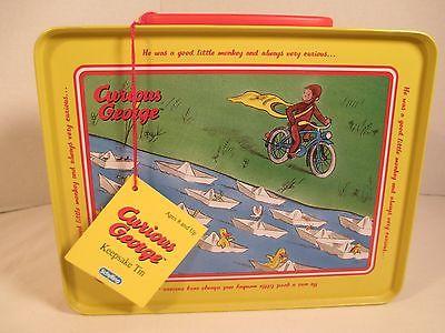 Curious George Tin Keepsake Lunch Box New