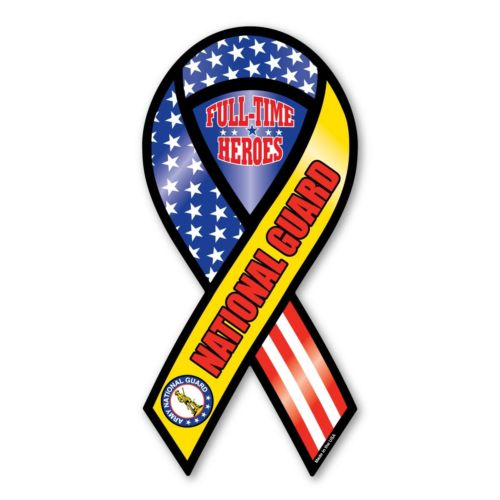 U.S. National Guard Ribbon Magnet- Full-Time Heroes