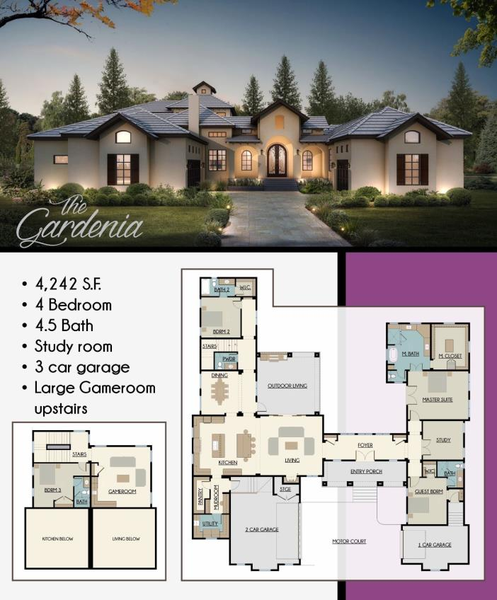 House Plans French inspired / construction blueprints for sale