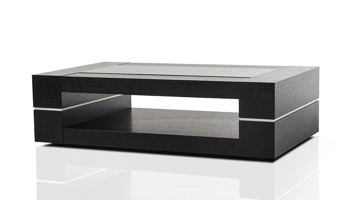 Mesa Modern Black Oak Coffee Table