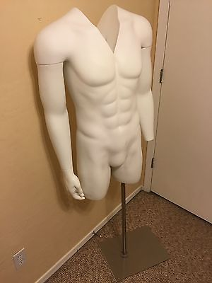 Invisible Ghost Mannequin Male Torso w/ Base MM-TMWIV