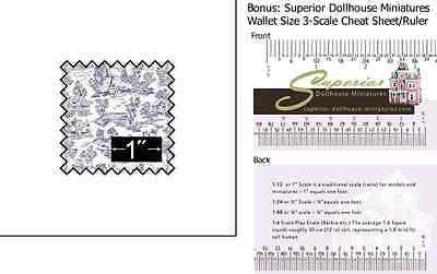 Silk Fabric: Campagne Toile Blue w/BONUS Wallet 3-Scale Ruler