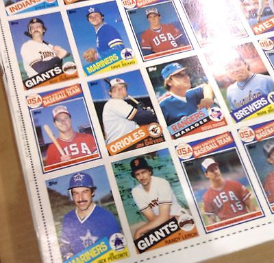 ONE MARK McGWIRE rookie card UNCUT 132 TOPPS BASEBALL card SHEET 1985 RARE