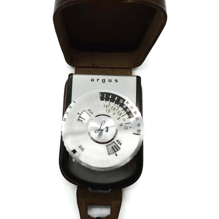 Vintage Argus Sylvania L3 Camera Light  Meter ANN ARBOR MICHIGAN WEST GERMANY