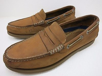 Sperry Top-Sider Brown Leather Comfort Moccasin Loafers Men's Used Shoes 7 M