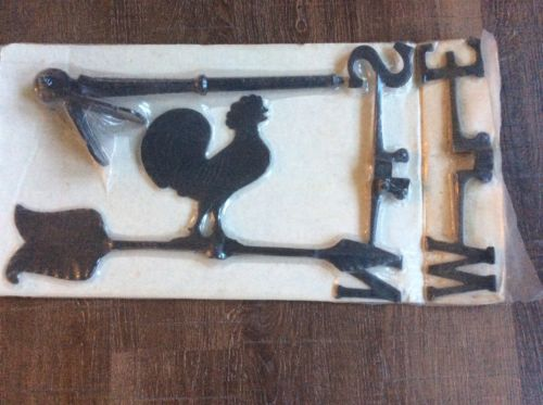 New In Box STEPHENSON Rooster Weathervane Wind Vane Cast Hammered Aluminum
