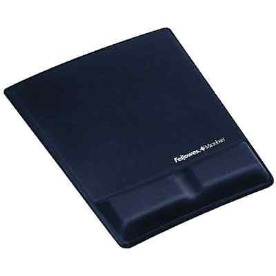 FELLOWES 9183901 MOUSEPAD WRIST SUPPORT w / MICROBAN PROTECTION , Blue