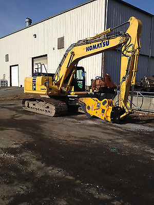 Indeco IRP 23X Rotating Pulverizer with Komatsu PC210LC-10 Excavator