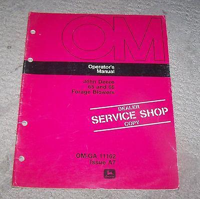 John Deere 65 & 66 Forage Blower Operators Manual Used