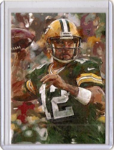 Green Bay Packers Aaron Rodgers Brush Art Print #'d Card 33 of 50