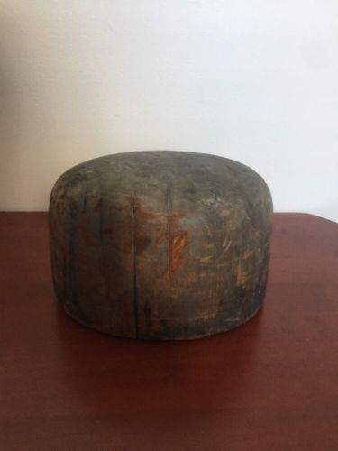 Antique Vintage Wood HAT Block / Form / Mold/ 100+ Year Old