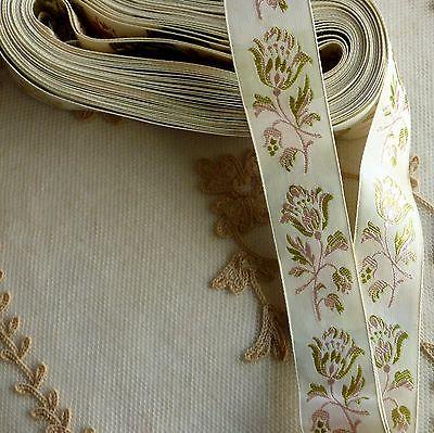 Vintage Swiss Quality Floral Ribbon
