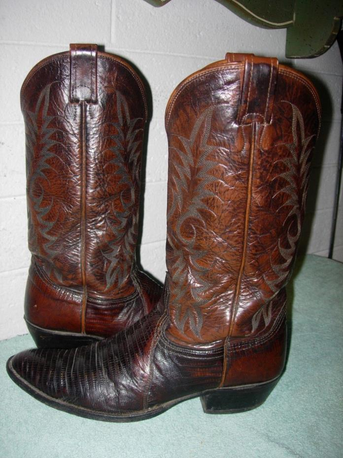 VINTAGE NOCONA BOOT SIZE 10 1/2 B LIZARD SKIN COWBOY BOOTS