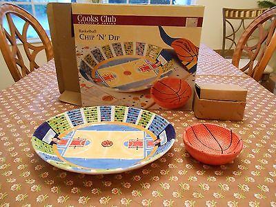 NIB COOKS CLUB Basketball Chip N Dip, Chip and Dip, Chip & Dip  Platter Bowl