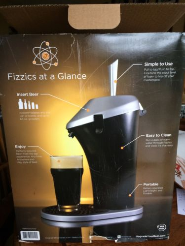 Fizzics Beer System Fresh Draft Taste Tap Taste Keg Portable Brew Dispenser