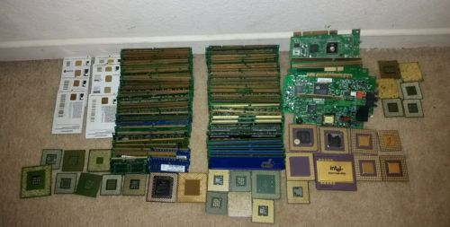 6.36 lbs of SCRAP Hi-Yield Computer/Server Ram Memory for Gold Recovery ONLY
