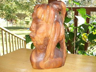 Hand Carved Wooden Rasta Man Jamaica 1997