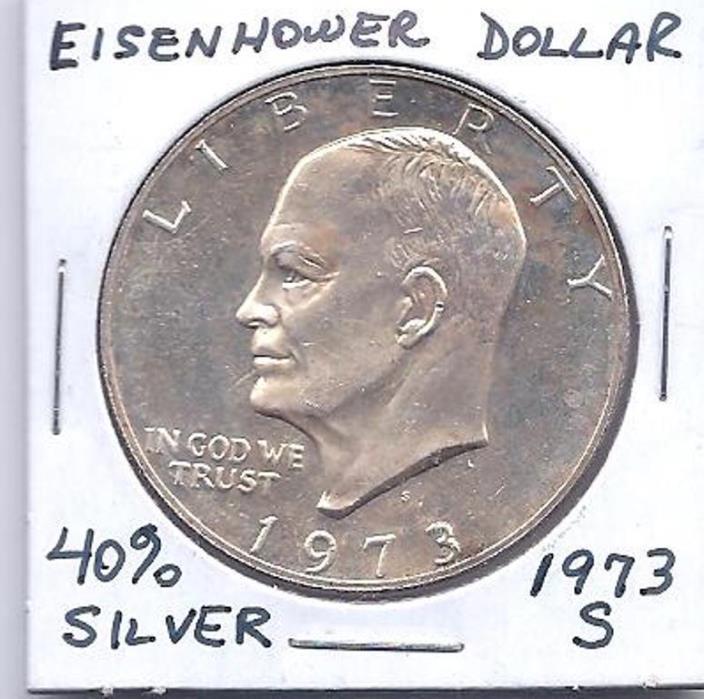 1973-S SILVER EISENHOWER DOLLAR UNC