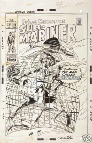 SUBMARINER #10 Cover art, Subby battles for the Serpent Crown! GENE COLAN '68