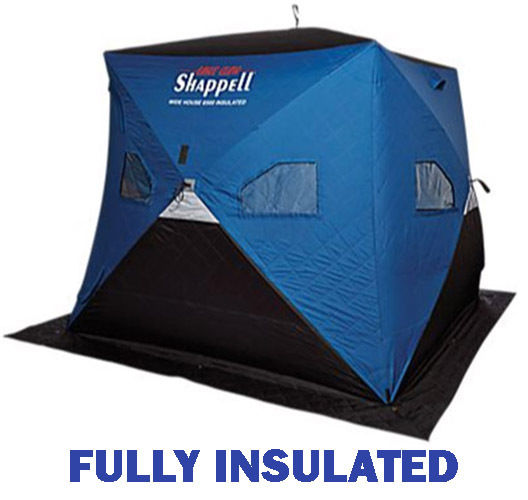Shappell Wide House 6500i Insulated Ice fishing hub house. #WH6500i