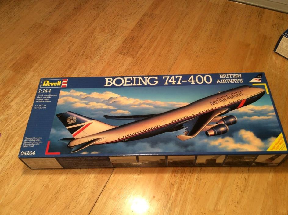 REVELL GERMANY 1:144 BOEING 747-400   #04204 1996 Vintage Brand New British Air