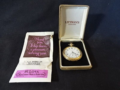 Old Vtg 14K Yellow Gold Elgin National Watch Co 17 Jewels Pocket Watch Jewelry