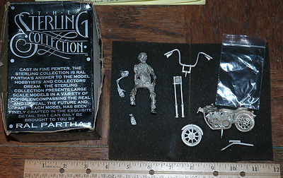 Ral Partha Sterling Collection Skeleton Motorcycle Ride