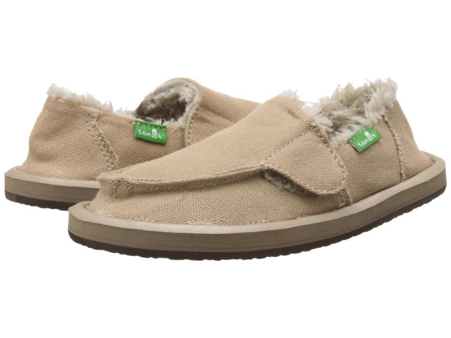 Sanuk VAGABOND CHILL BOY'S Shoes 11 Sidewalk Surfer Slip On Loafer TAN Toddler