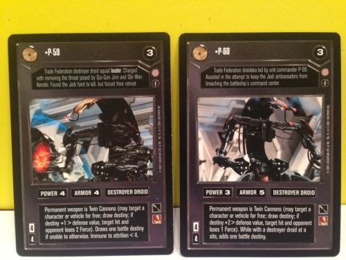 Star Wars Ccg P59 & P60