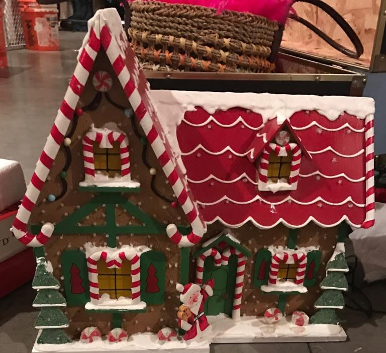 END OF SEASON! MUST GO Christmas Fiber Optic Gingerbread House Home Interiors