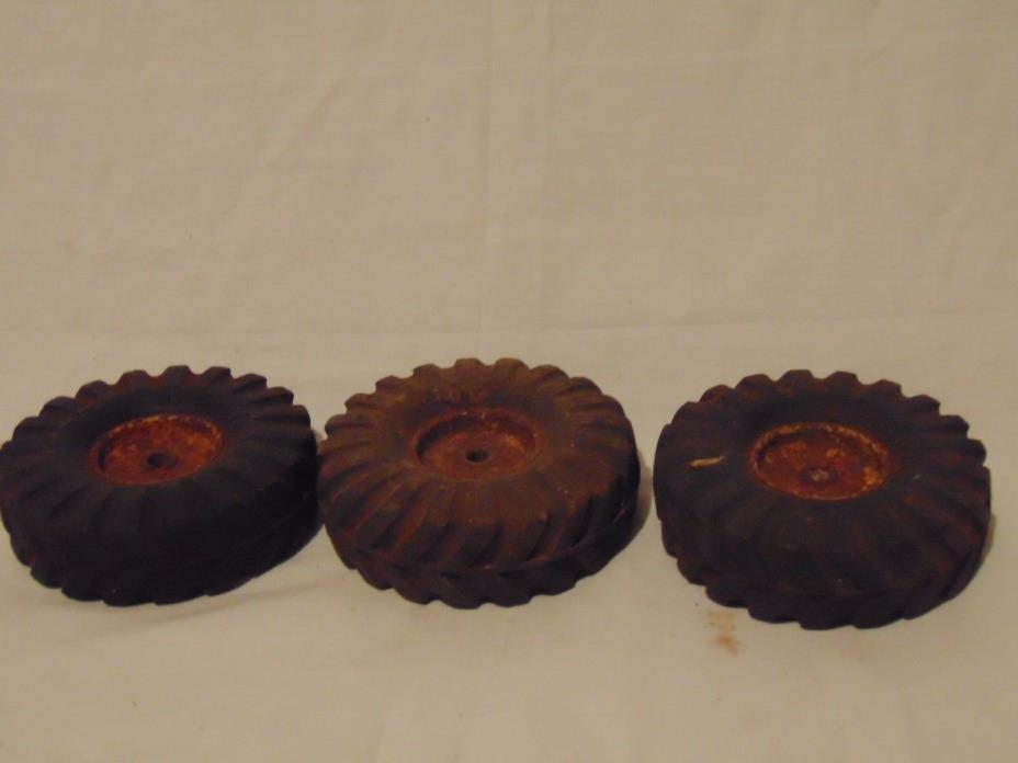 Lot of (3) NY-Lint Toys solid rubber tires 3 3/4