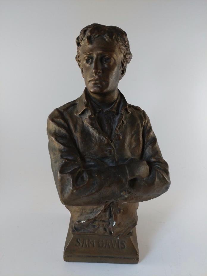 Sam Davis Bust by George Julian Zolnay G J