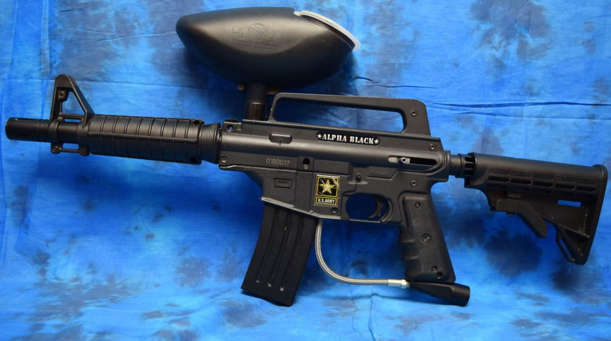 TIPPMANN US ARMY ALPHA BLACK ELITE PAINTBALL MARKER