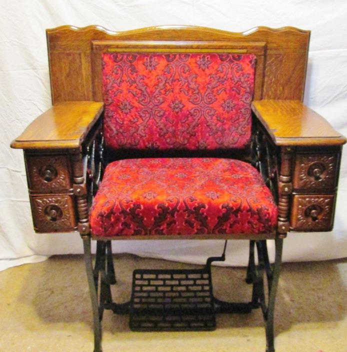 CUSTOM MADE ANTIQUE SEWING CHAIR