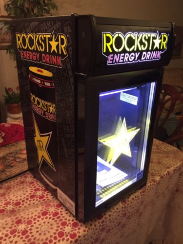 NEW ROCKSTAR ENERGY DRINK GCG-Baby COUNTERTOP MINI FRIDGE COOLER Redbull Monster