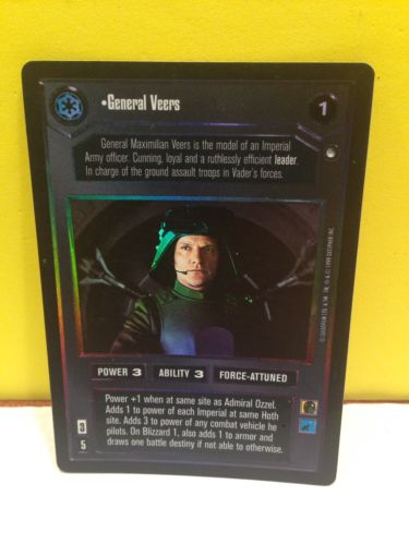 Star Wars Ccg Reflections General Veers Foil